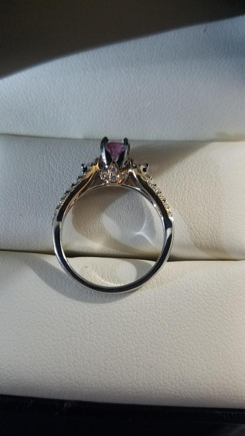Rose Amp White Gold Engagement Ring Suncrest Pink Diamond