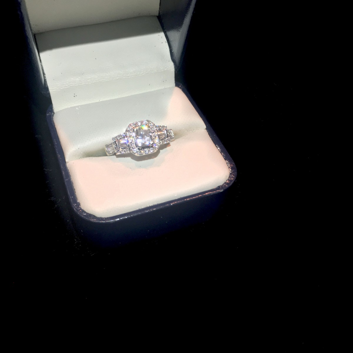 081ct carat gsi radiant cut engagement ring 148tcw