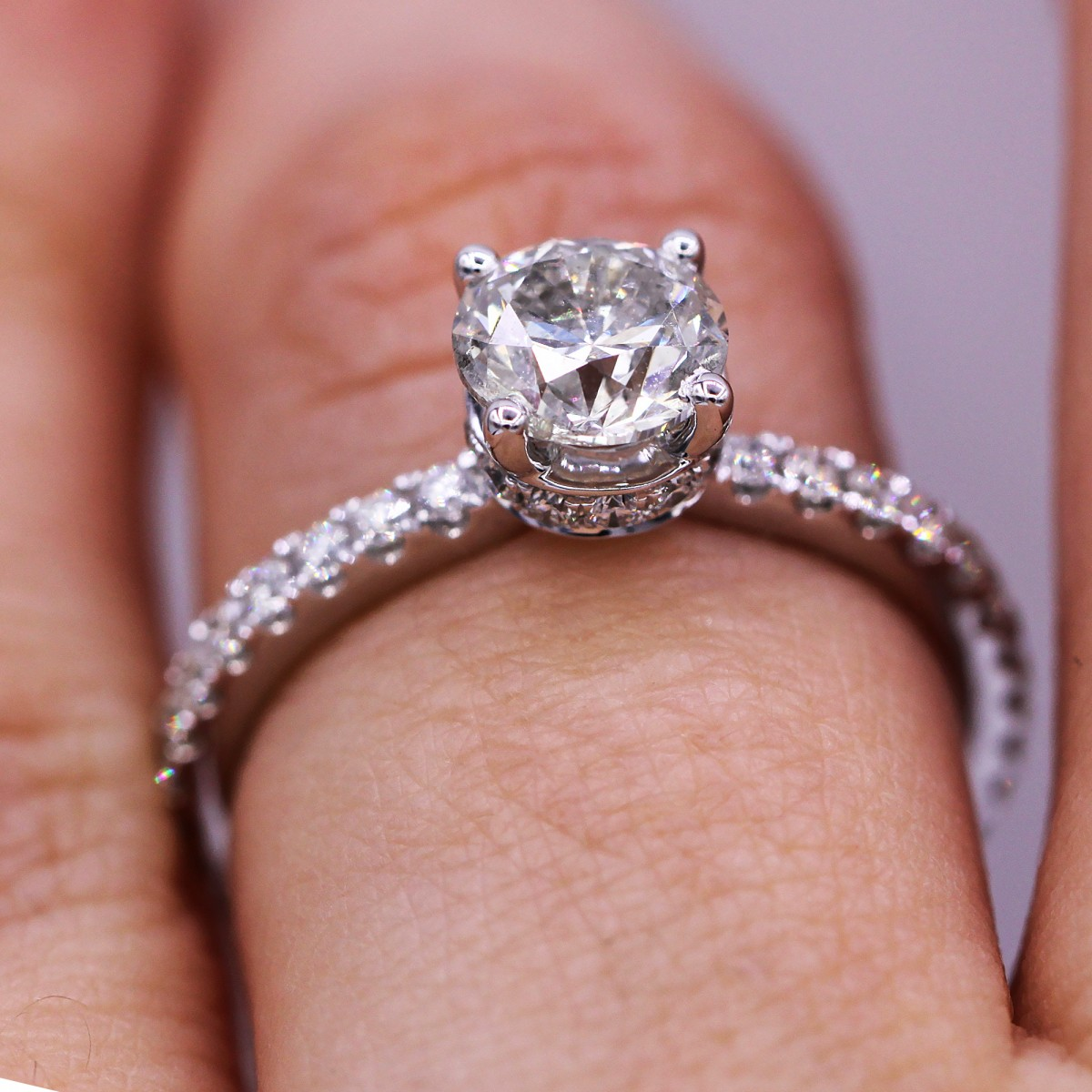 Classic and timeless 1.08 carat round cut diamond ring