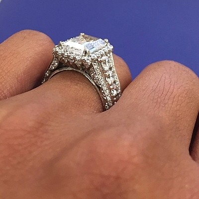 Tacori Royalt Ht2613 Diamond Engagement Ring Center Stone Not Include