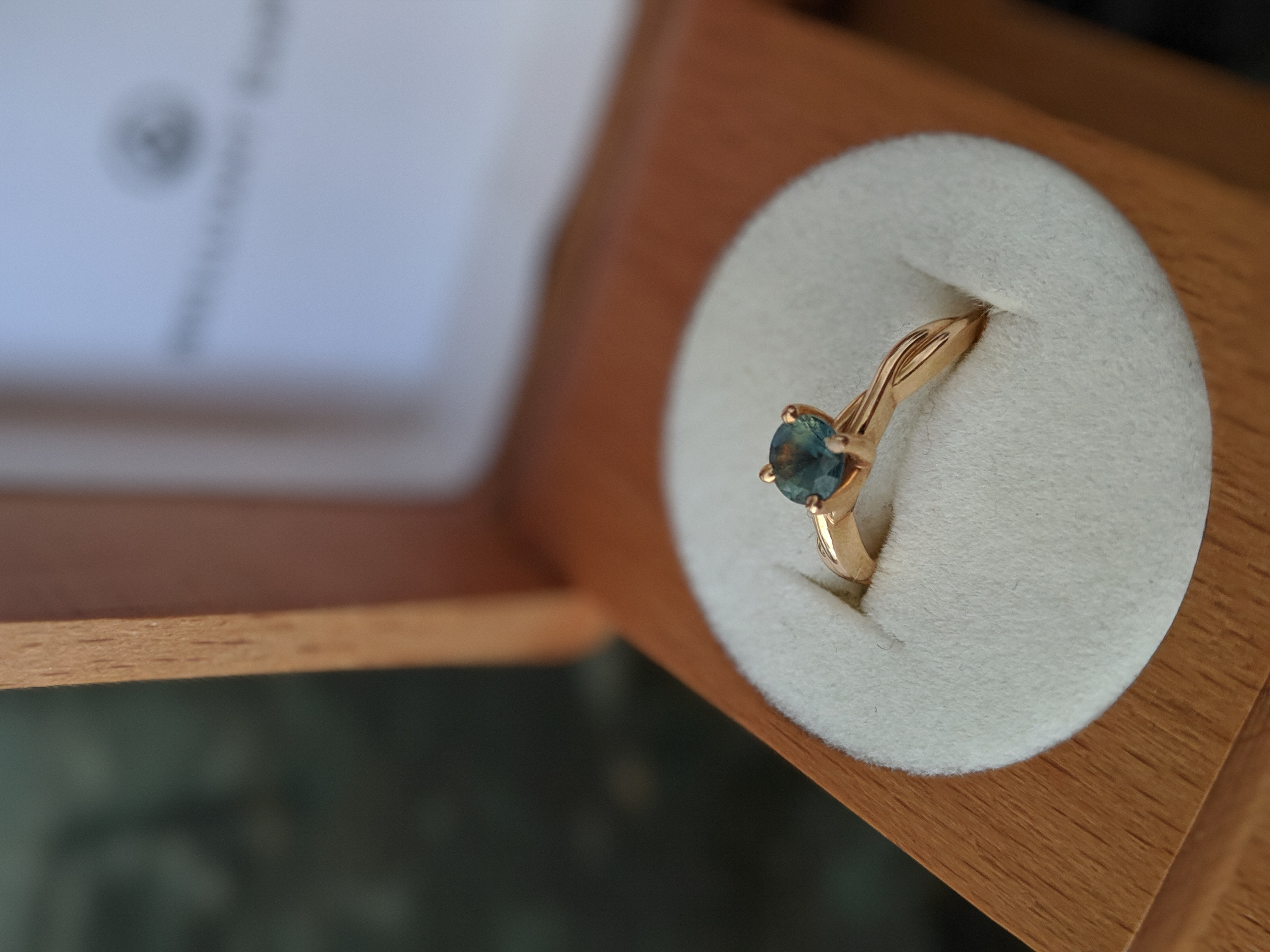 Teal Sapphire Engagement Ring From Brilliant Earth