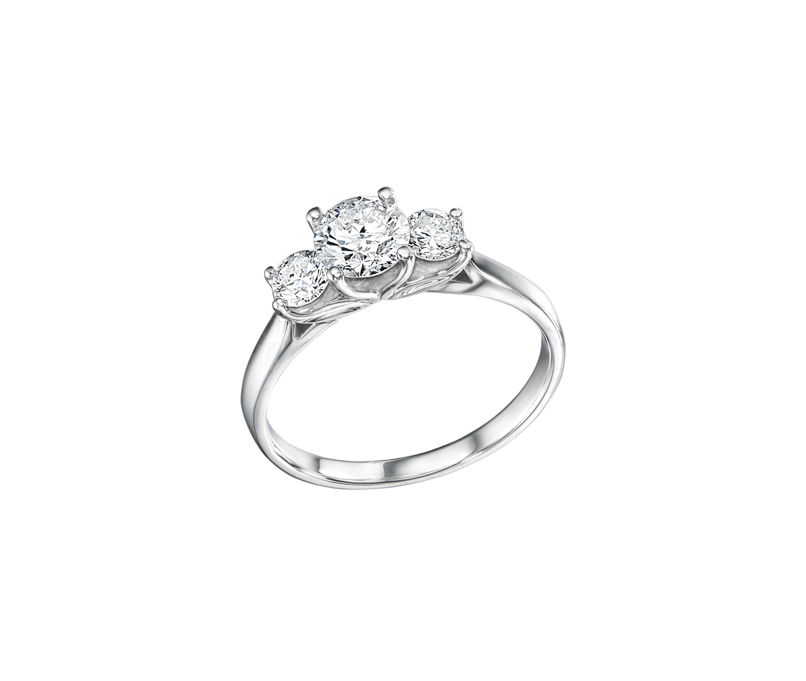 0.5 CRT round cut engagement ring