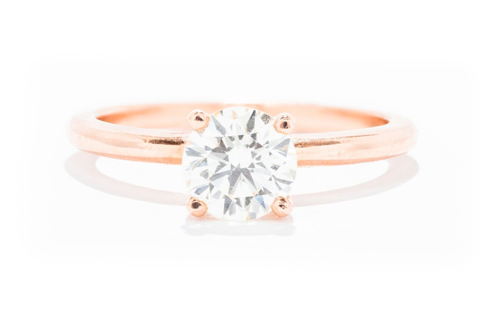 Rose Gold Solitaire Round Diamond Engagement Ring