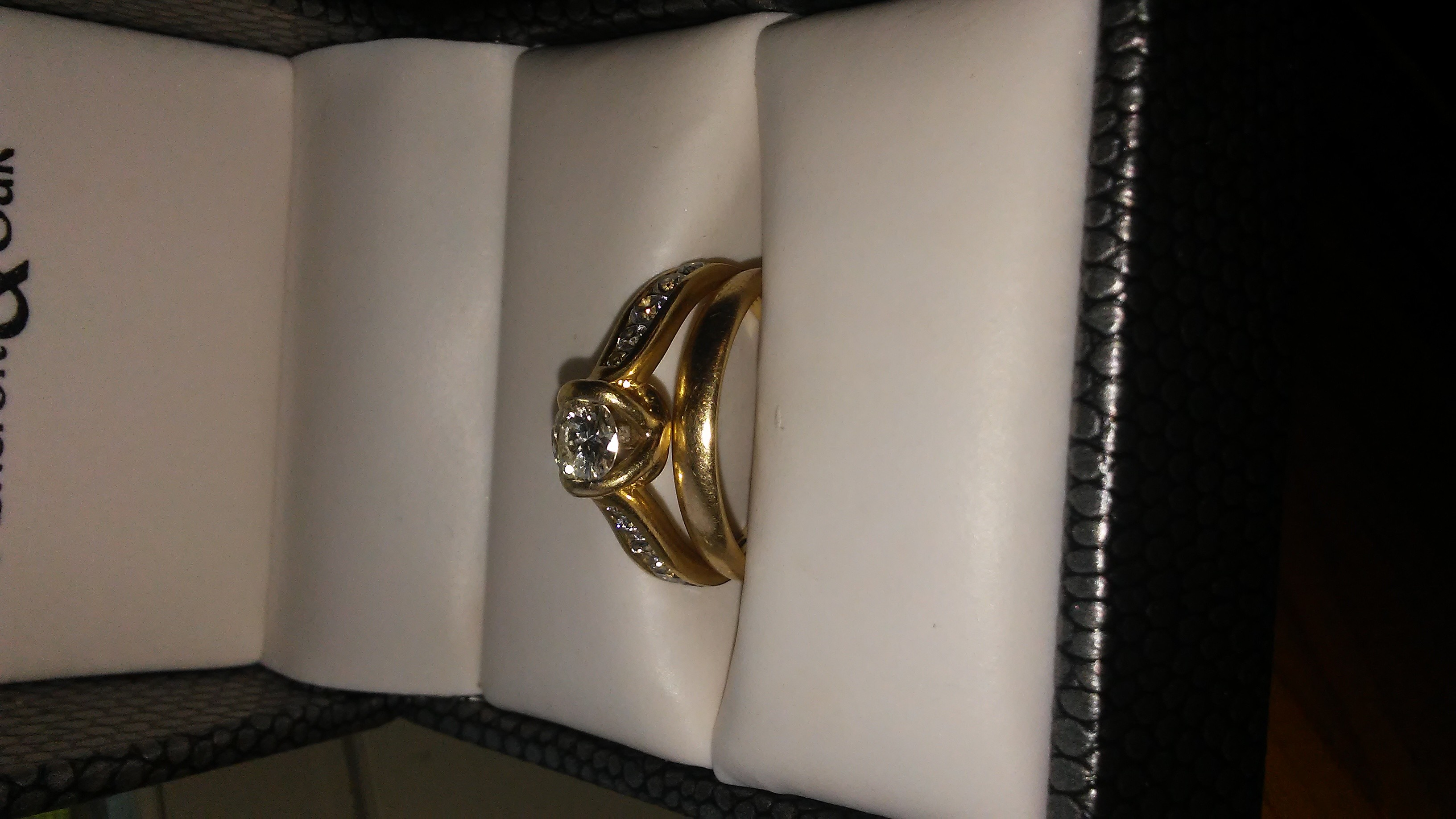 Ashcroft&Oak diamond engagement ring with kay jewelers 10k gold band