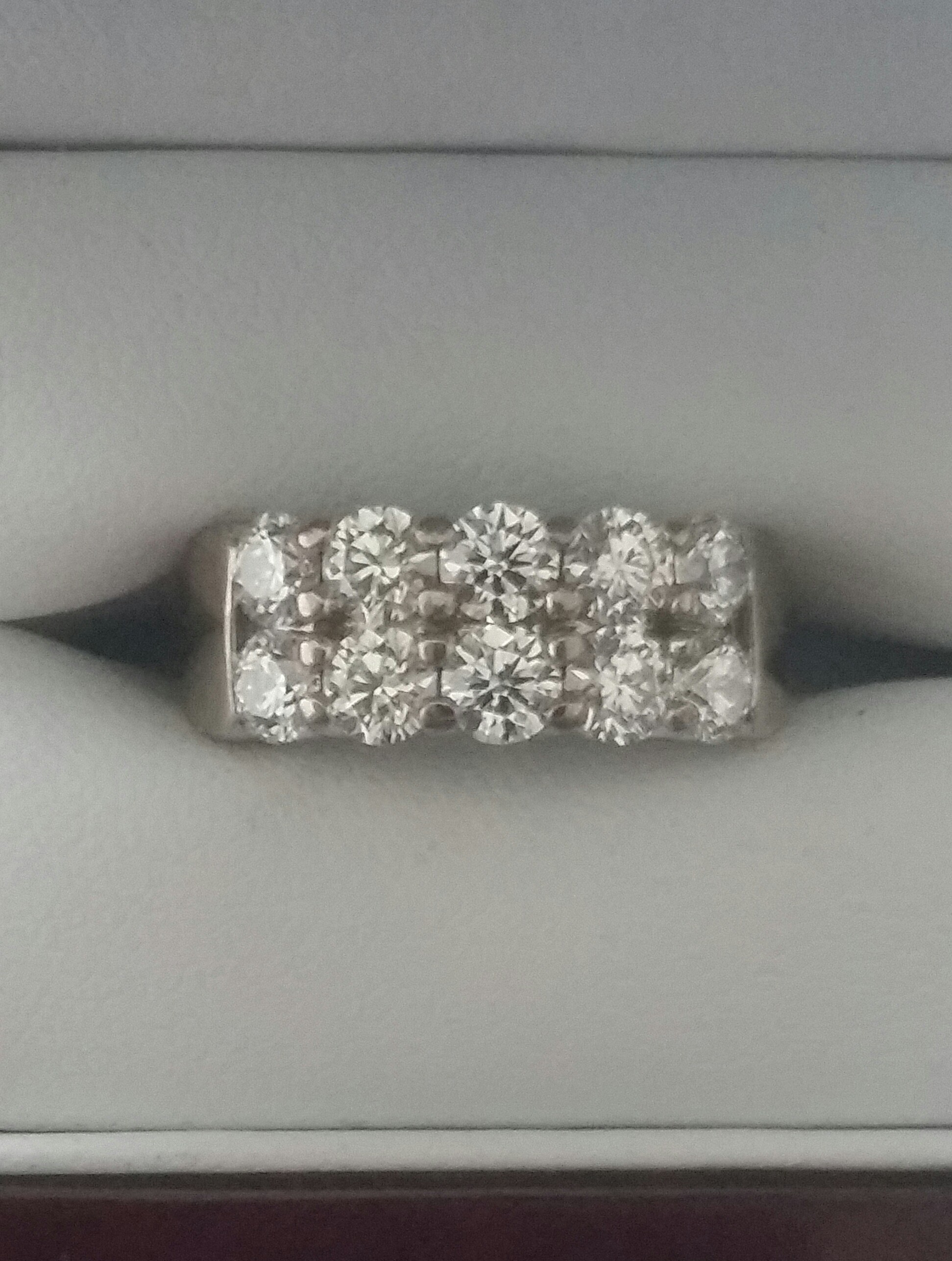 2.30 carat Hearts of Fire engagement ring, G-H, VS clarity (see below)