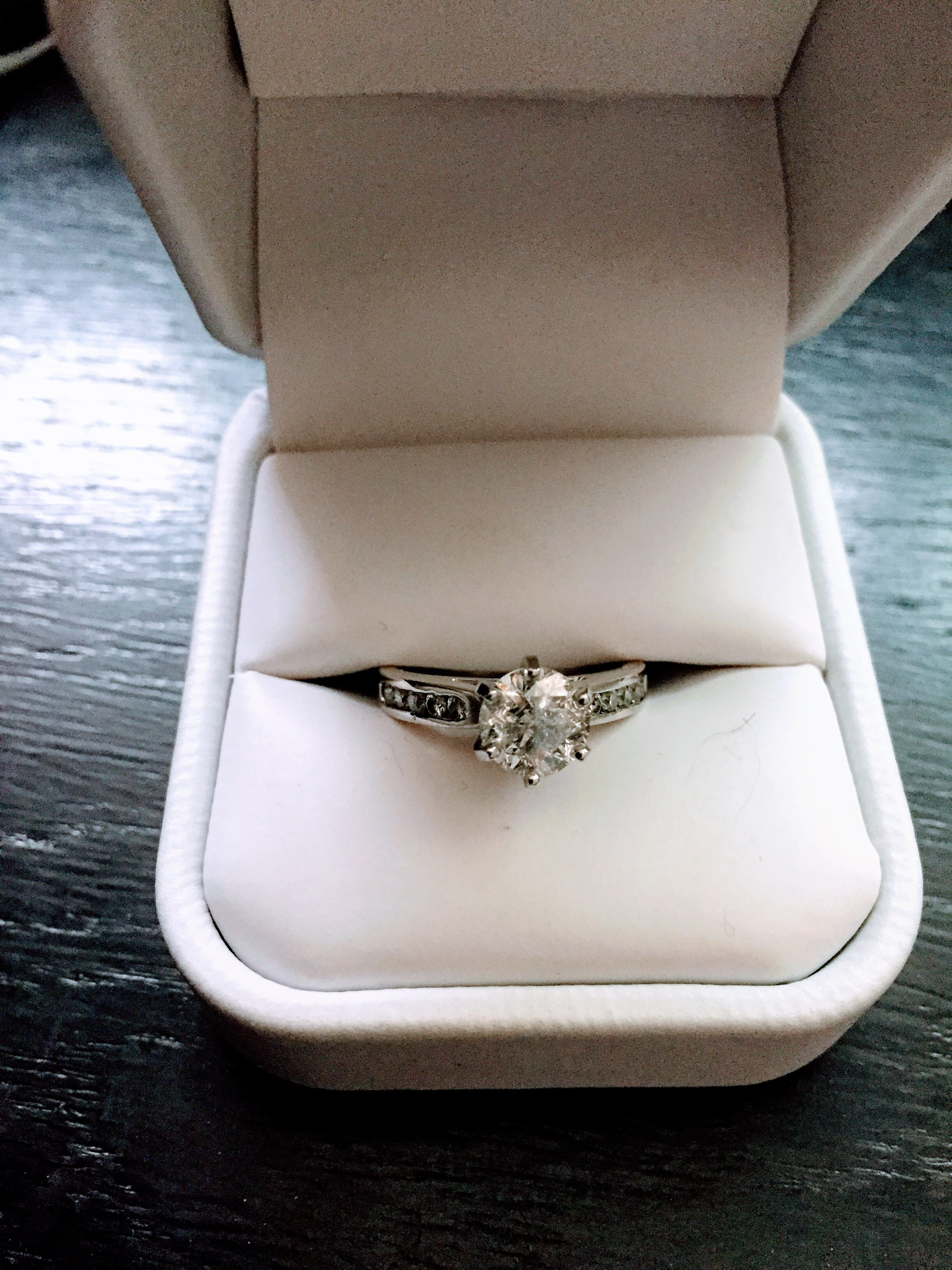EGL USA 1.5 Carat Center Stone Solitaire with Side Diamonds