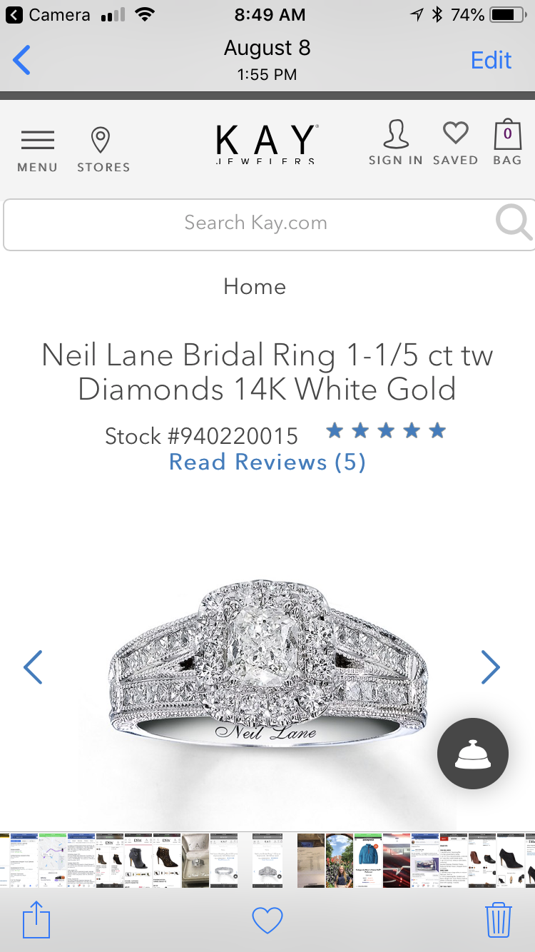 Neil Lane Enganement Ring with Diamond Band