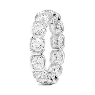 BASEL-SET OCTAGONAL DIAMOND ETERNITY BAND BRAND NEW