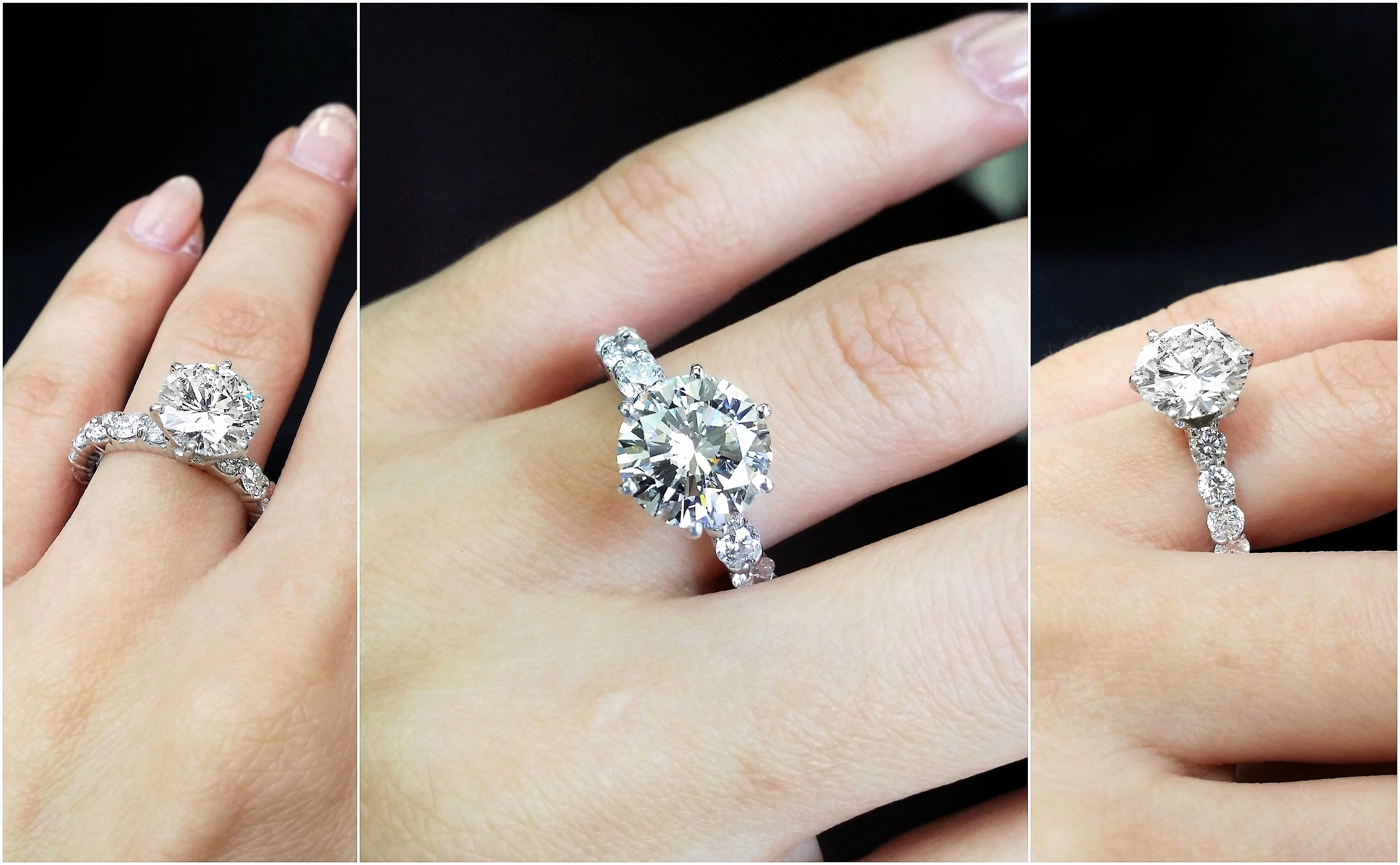 Dream diamond engagement ring with 4.66 carats total,EGL CERTIFIED.
