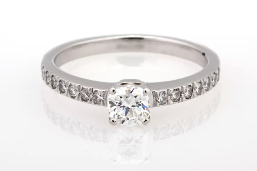 57d16cf468d7e Tiffany & Co NOVO Diamond Platinum engagement ring .49 tcw