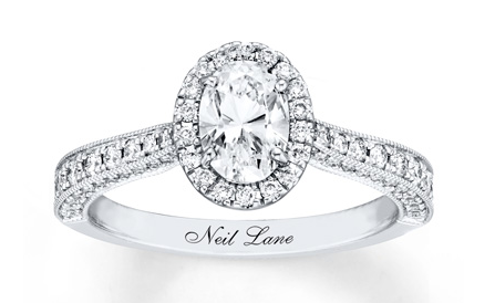 Neil Lane Engagement Ring 1-3/8 ct tw Oval-cut 14K White Gold