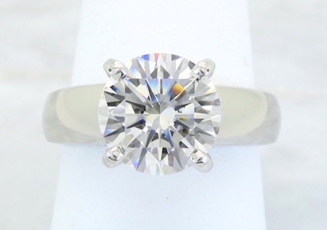 GIA Certified 2.28CT Triple Excellent Cut Diamond Solitaire Ring