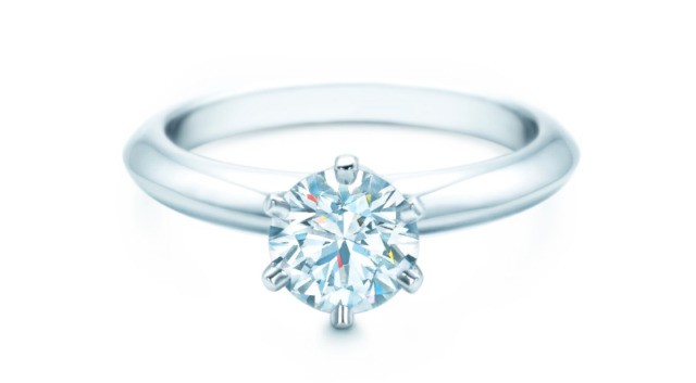 Tiffany Diamond Engagemen Ring & Tiffany Embrace Bands