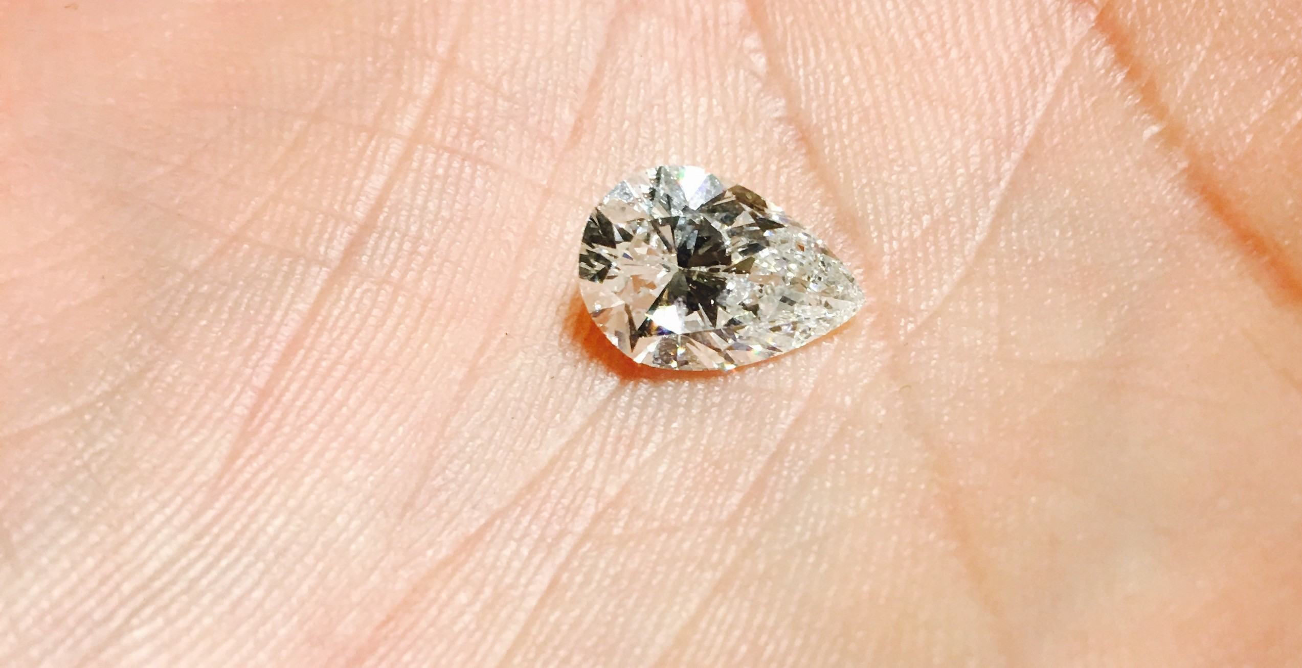 2.31 carat Pear Shaped diamond