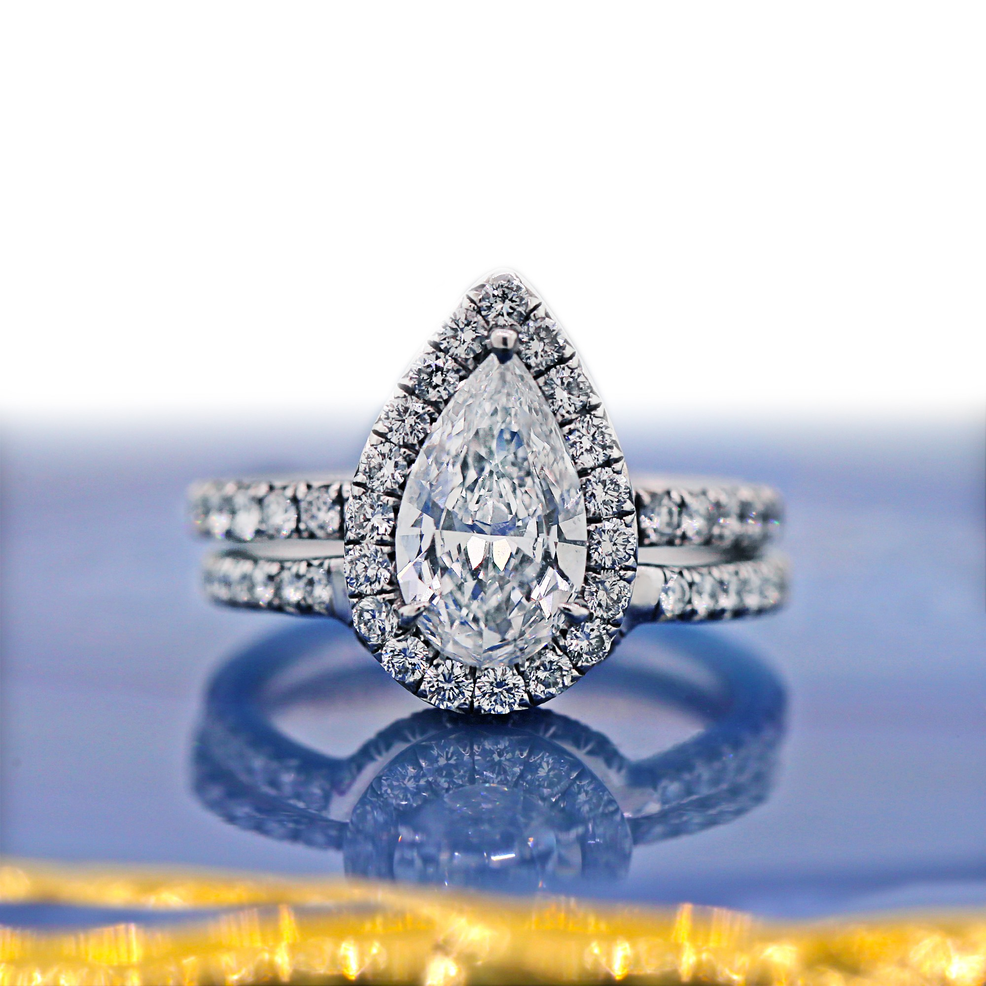Magnificent Platinum Wedding Set with 2.16ct TDW GIA Certified