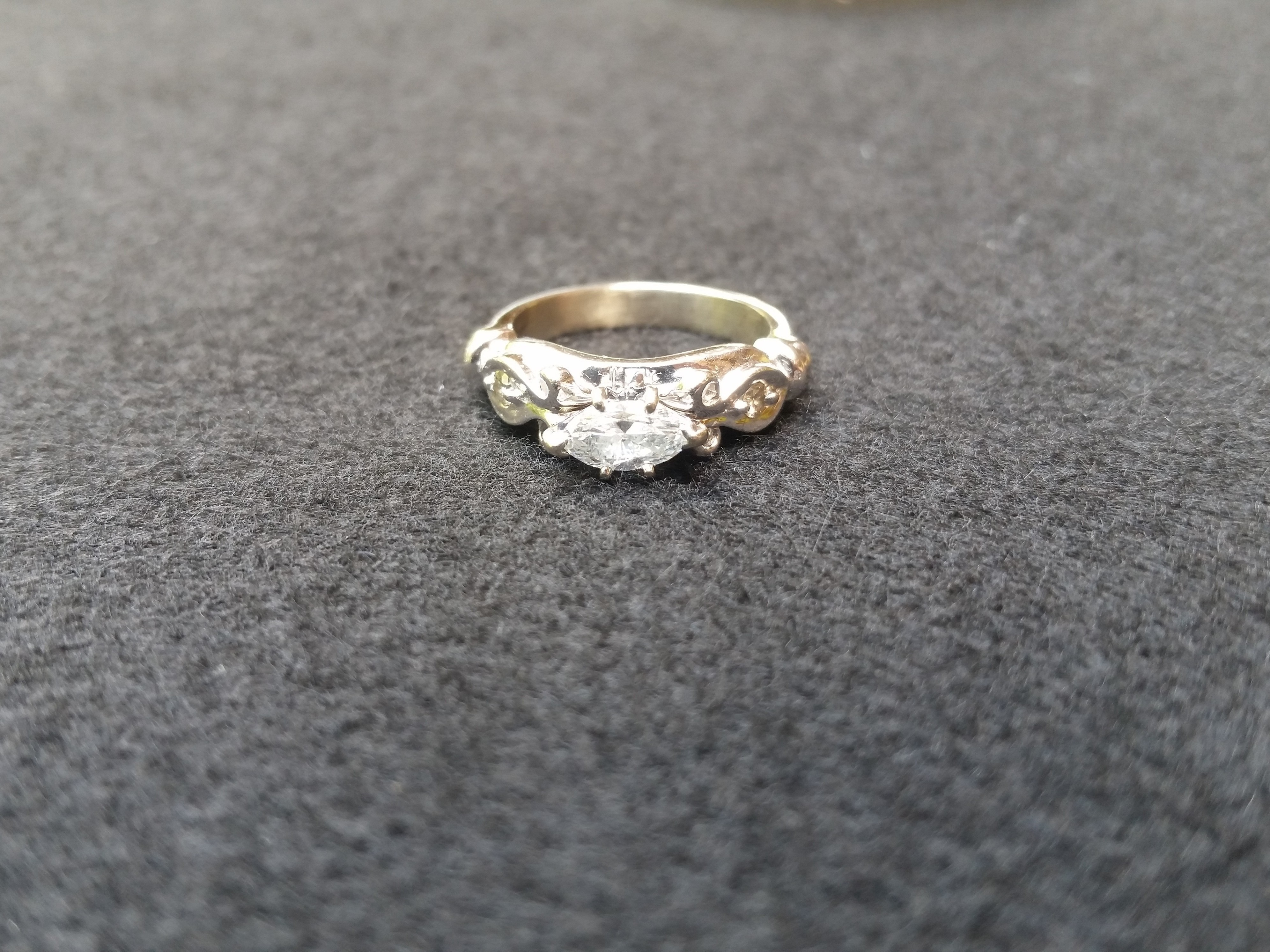 Marquise Diamond 18k White Gold Engagement Ring