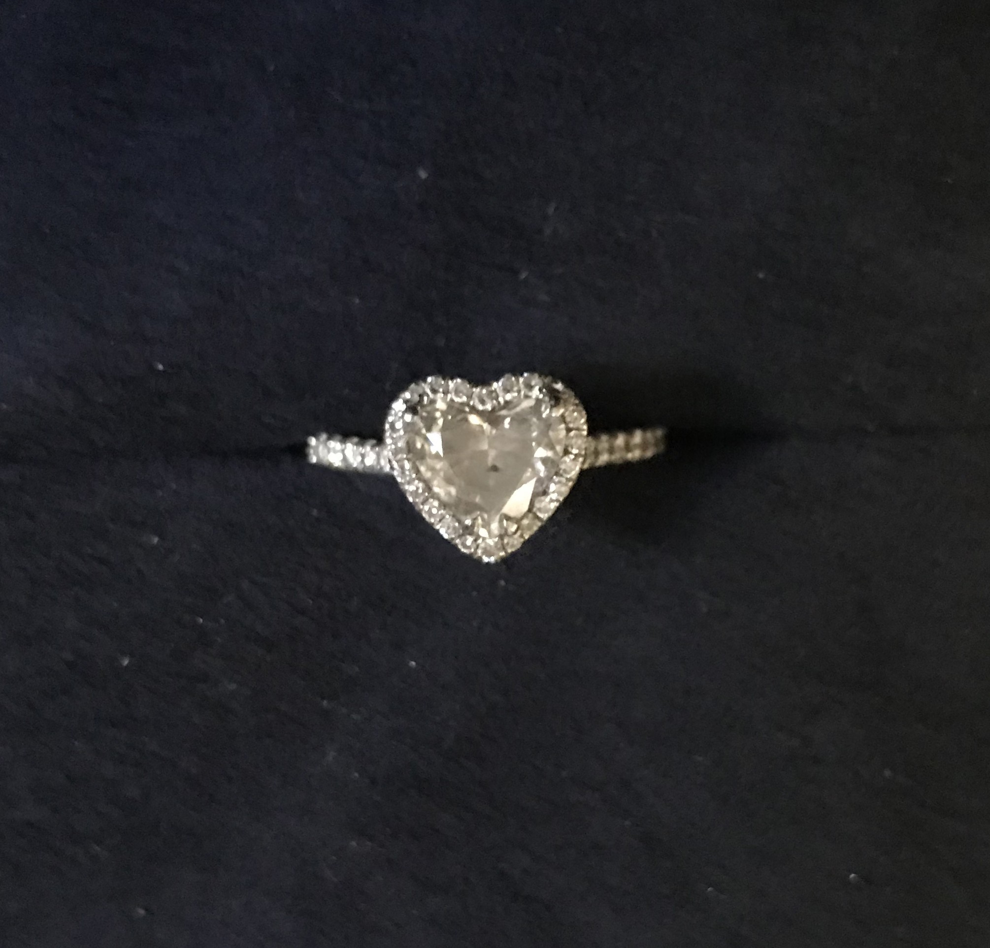 1.5 carat heart shape engagement ring