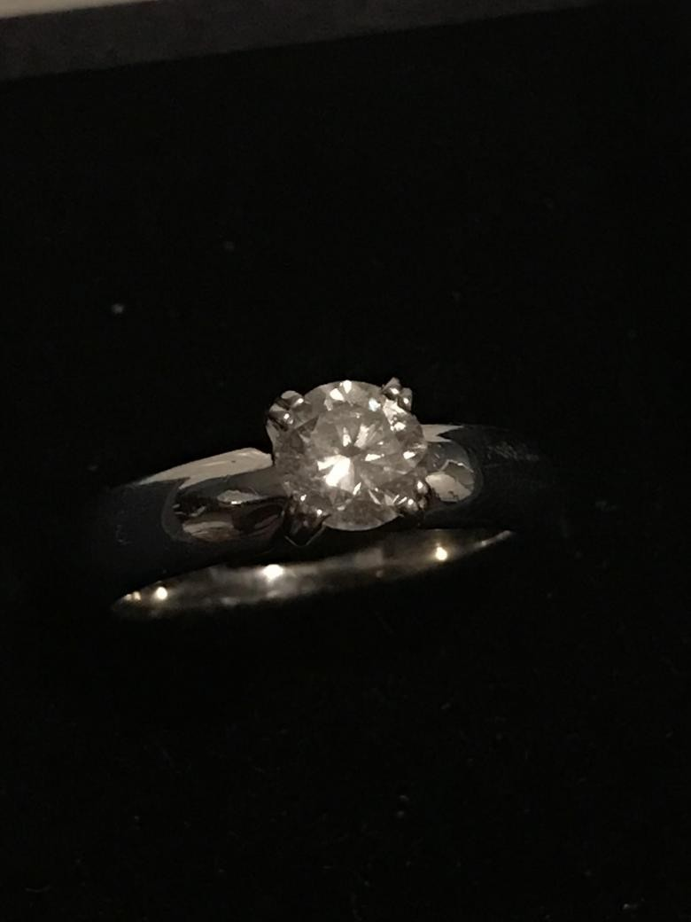 .65CT. SOLITAIRE RING 14K WHITE GOLD BAND