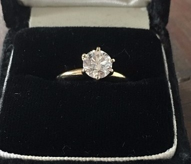 1.18 ct round engagement ring, EGL H1 SI3