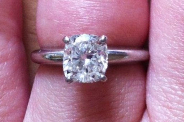 Gorgeous 1.51ct Cushion Cut Diamond Solitaire Engagement Ring