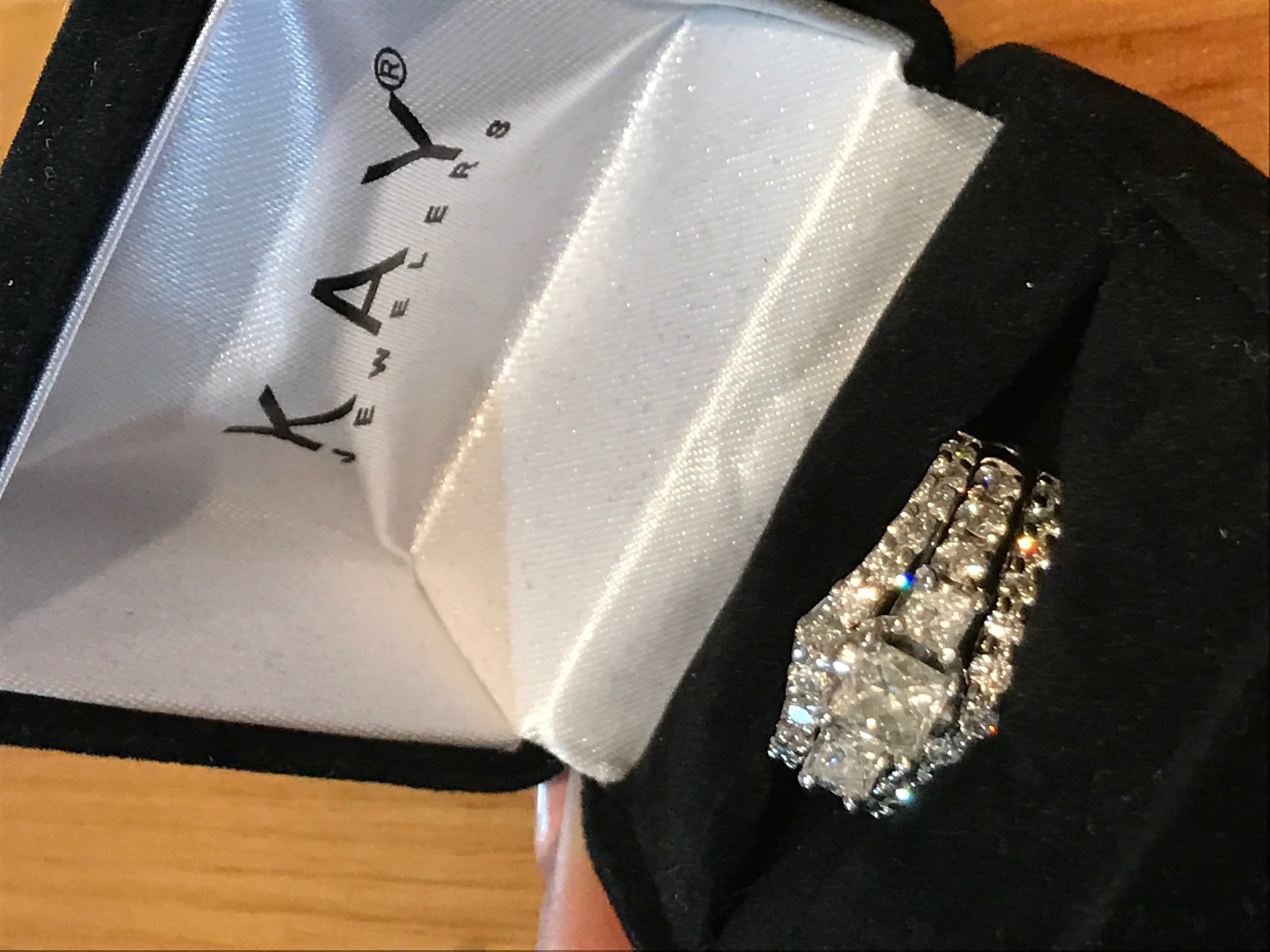 Leo Diamond Engagement Band & Kay Wrap
