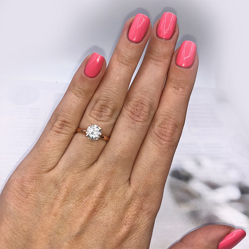 !!!Engagement Ring with Center Round cut Diamond VIDEO