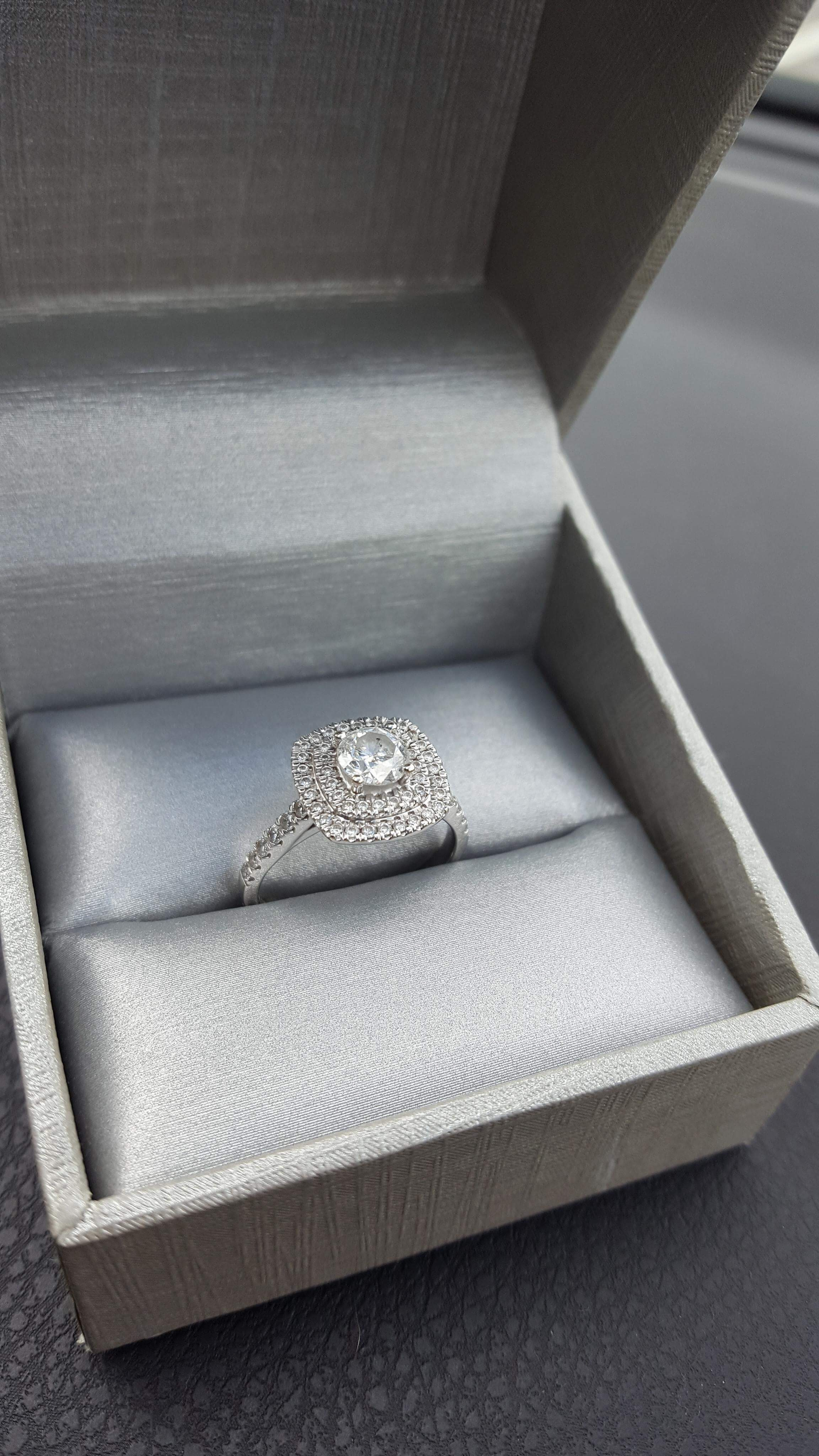 1.78 Carat Round Halo Engagement Ring