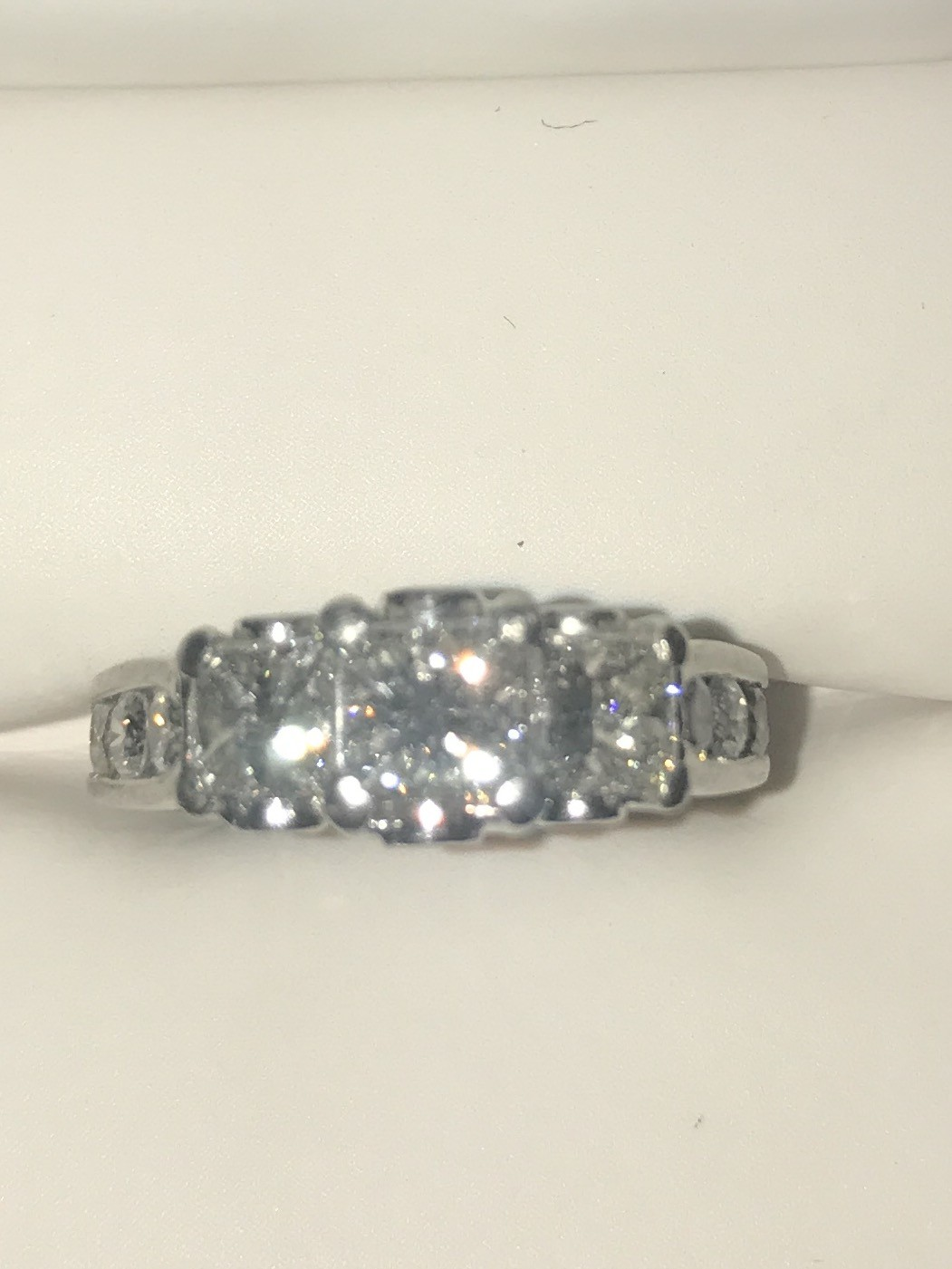 Diamonds set in Platinum Band