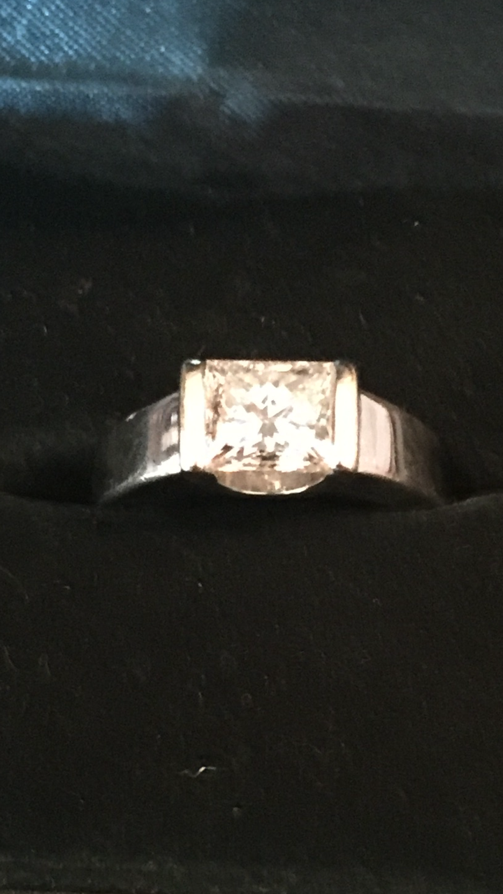 1.13 Princess Cut VVS2 Clarity Engagement Ring