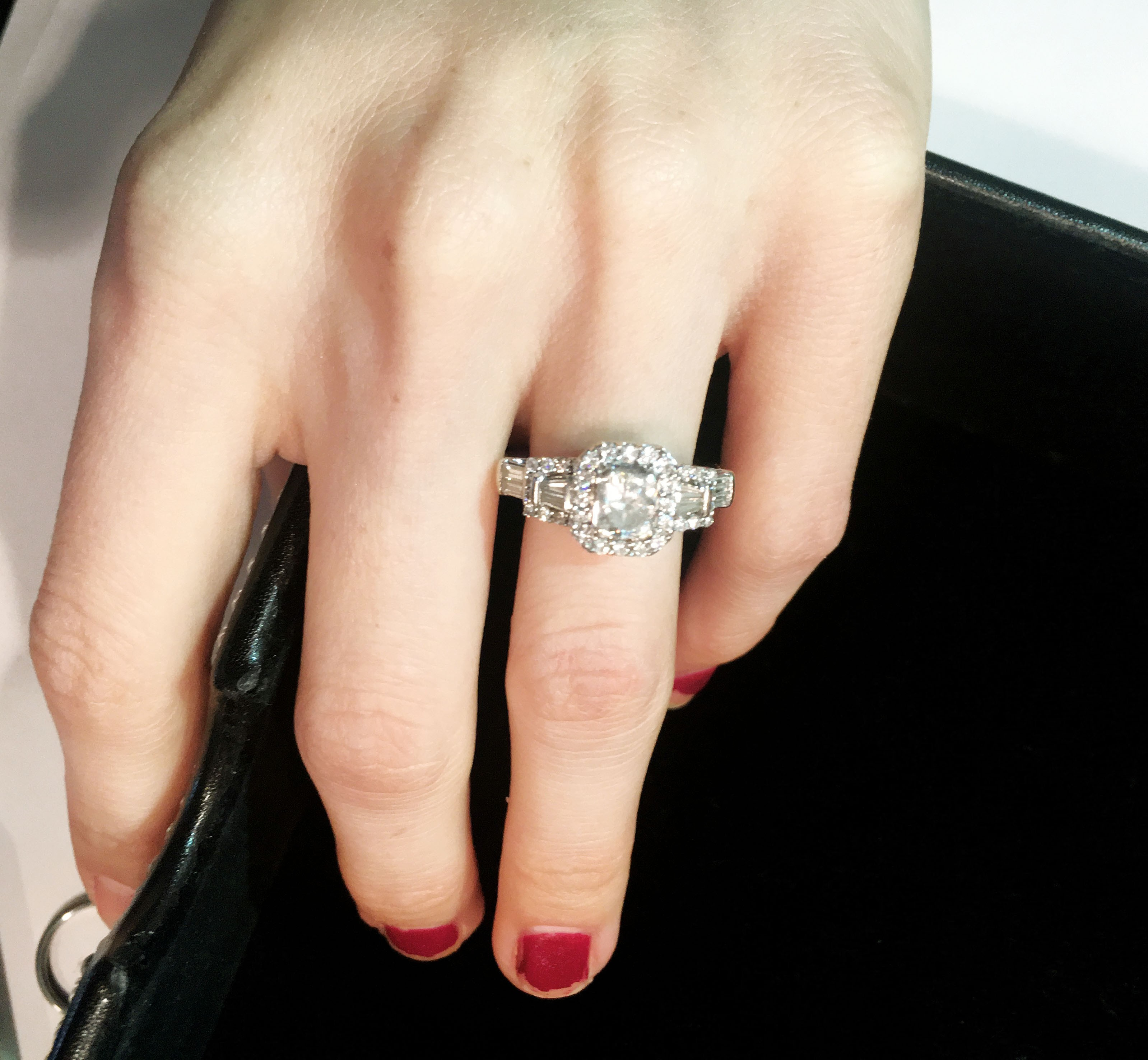 0.81ct carat GSI Radiant Cut Engagement Ring 1.48tcw