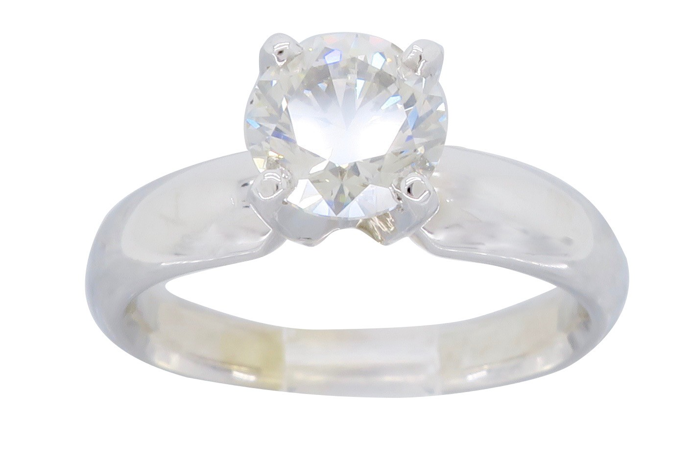 Rare gorgeous 1.00CT GIA Certified Fancy Light Gray Solitaire