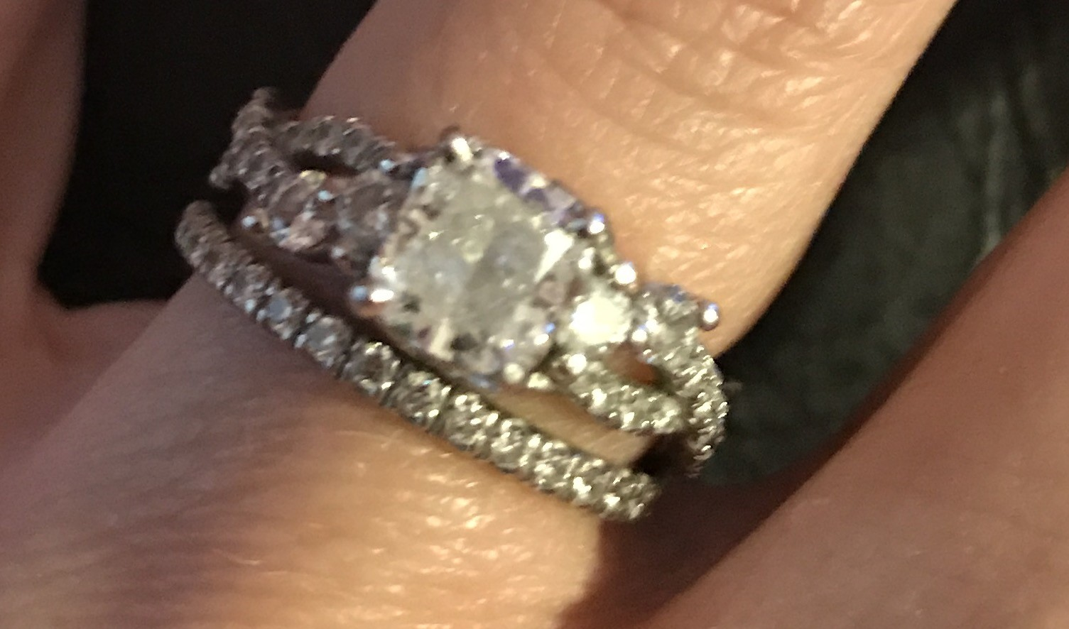 1.01 Monique Lhuillier Twist Custom Designed Diamond Engagement Ring
