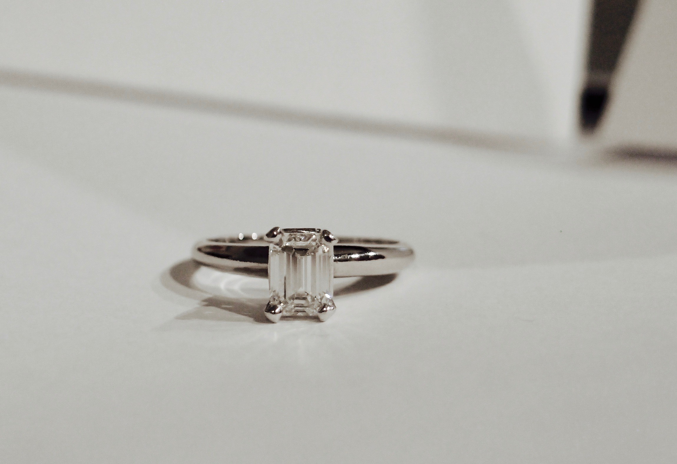 Emerald Cut 1.04 ct Engagement Ring- GIA Certified