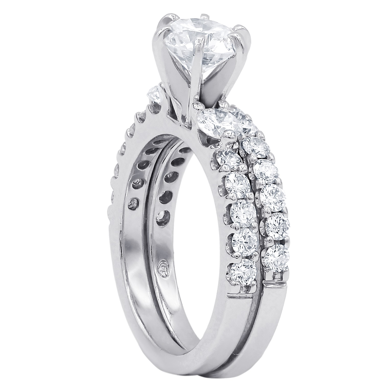 2.03 cts Engagement and wedding ring set