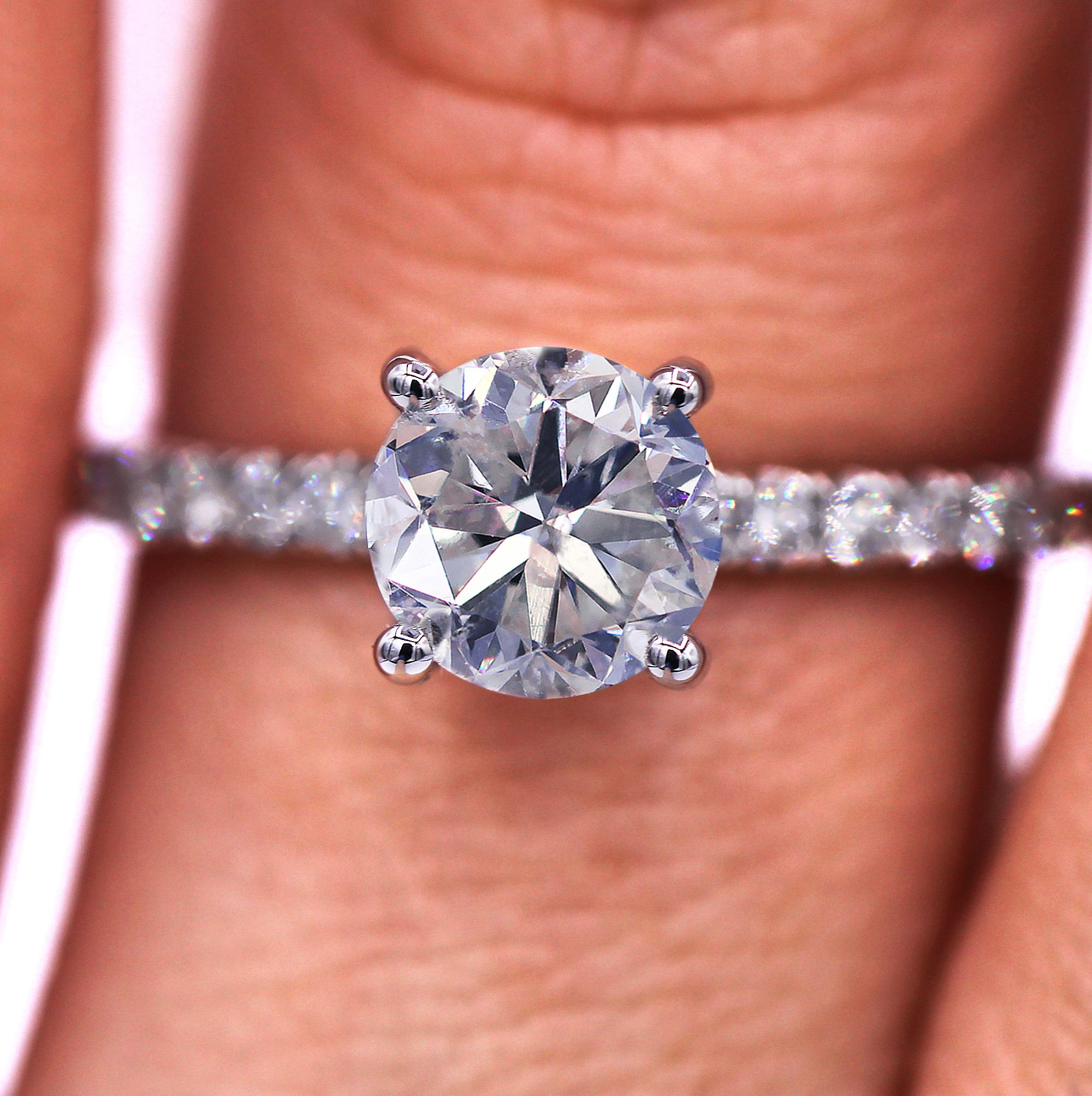 Dream diamond engagement ring with 1.38 TCW