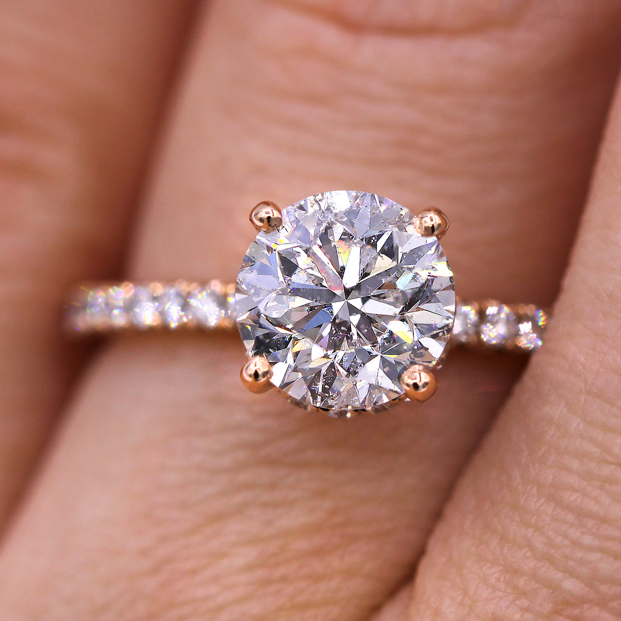 Handcrafted and Certified 2.51cts diamond engagement ring