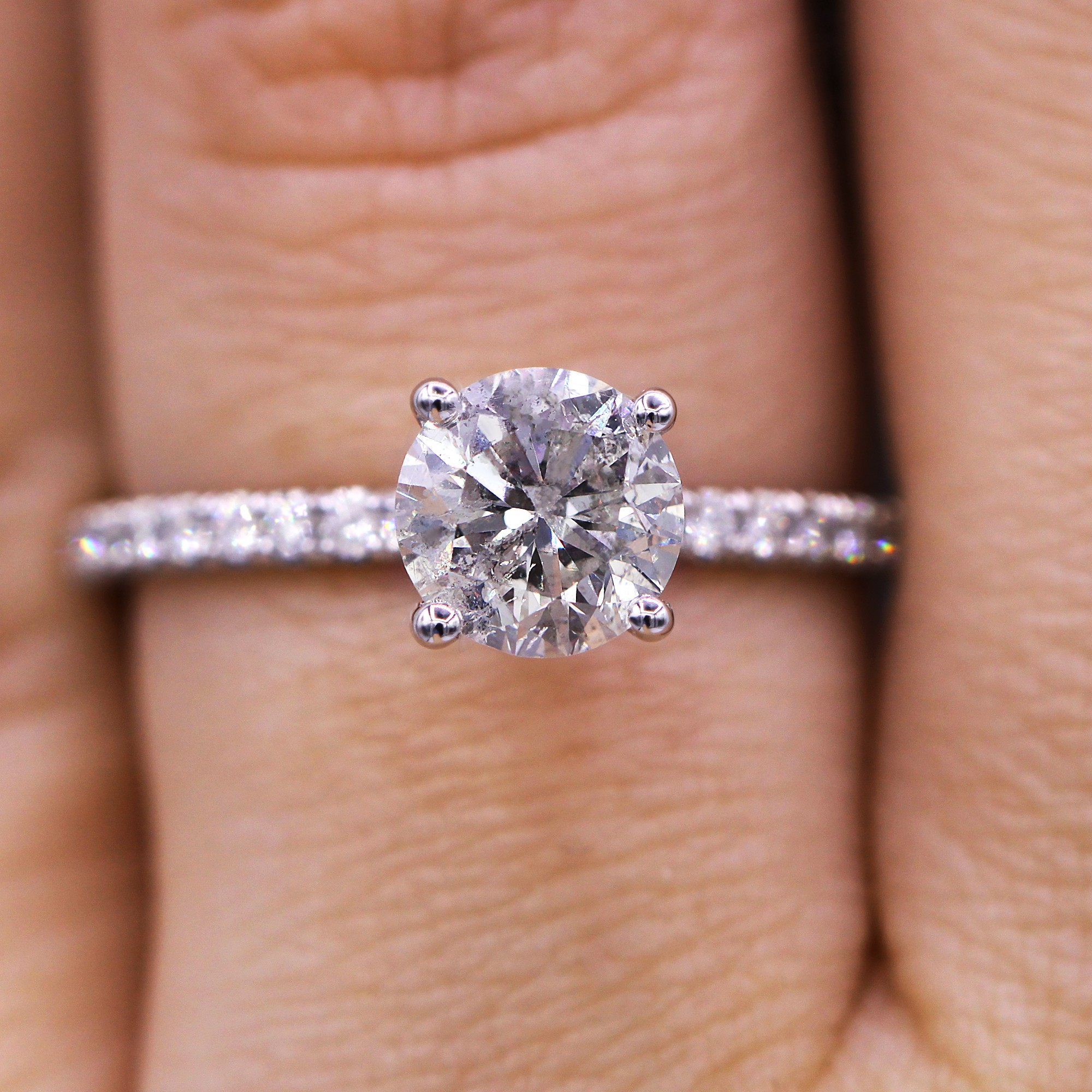Delicate and classic diamond engagement ring