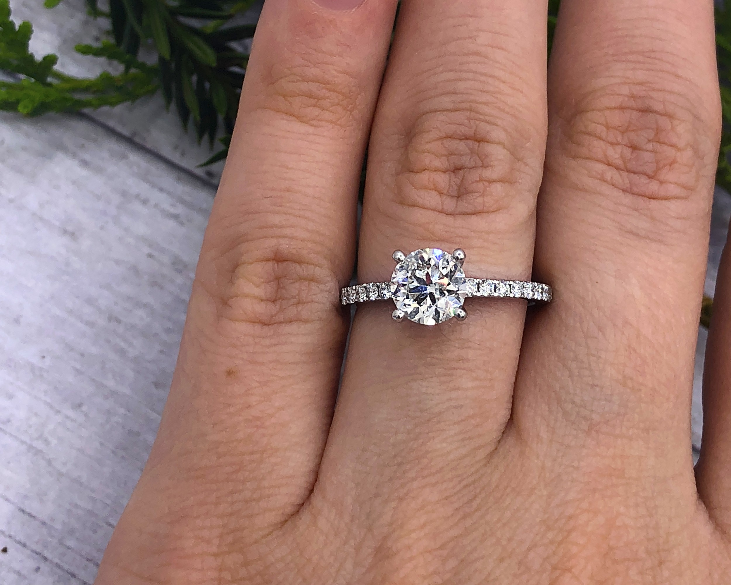 1.74TCW Classic Diamond Engagement Ring