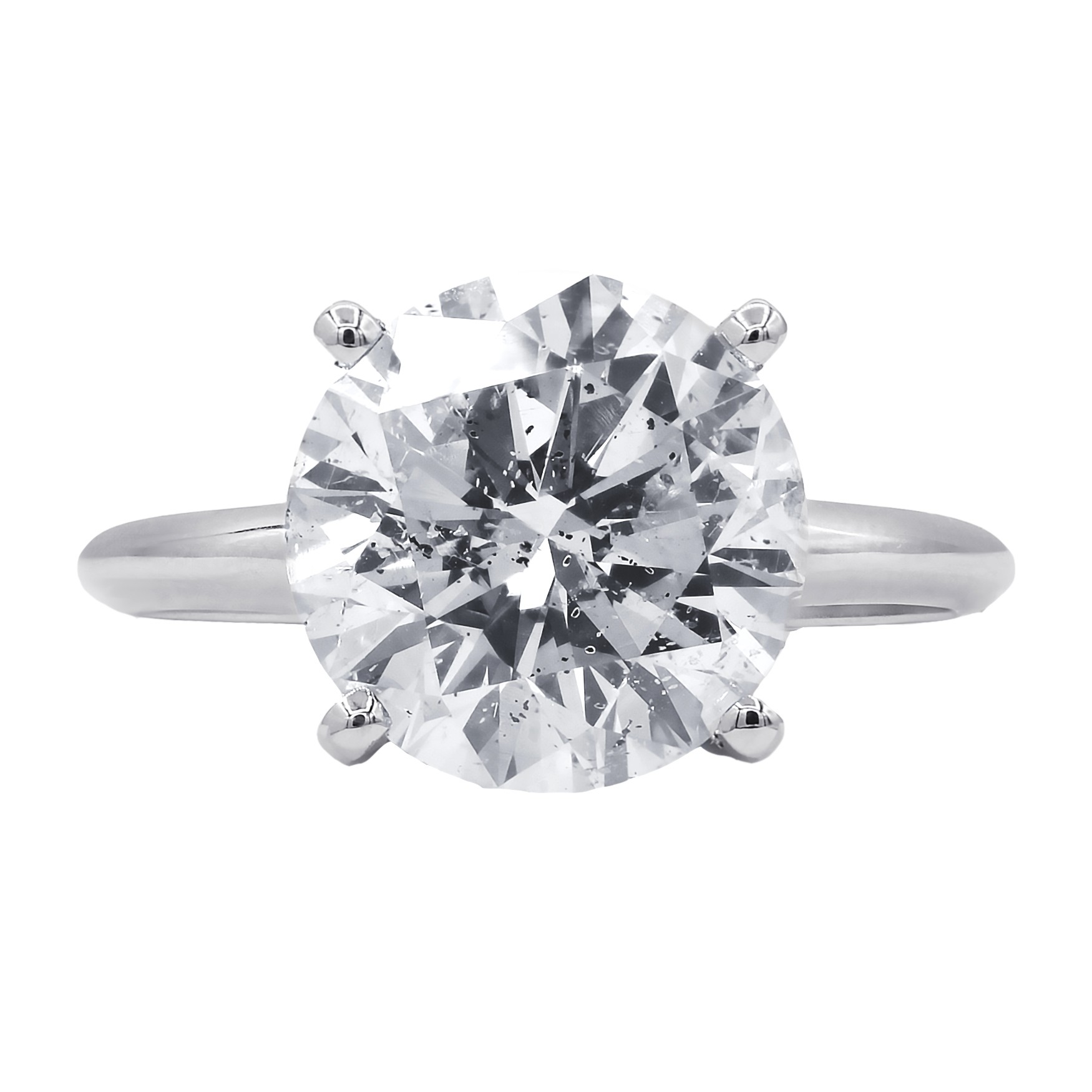 Certified  4.33 carats solitaire diamond engagement  ring
