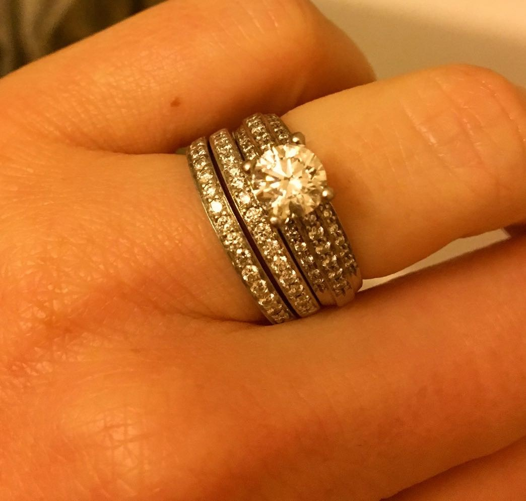 Engagement Ring & Matching Wedding Bands (Sold separate or together)