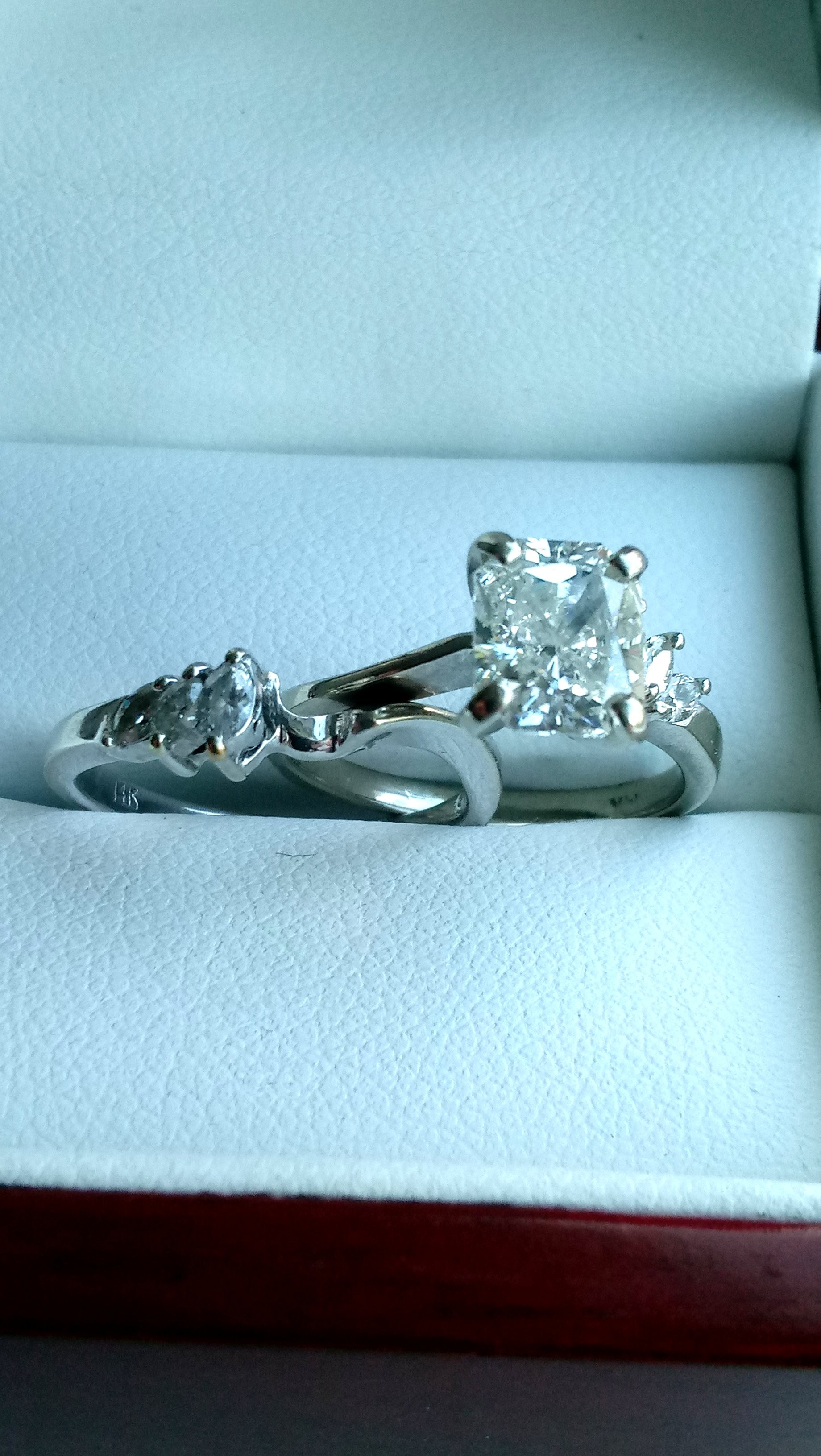 1.35 Beautiful Nearly Flawless/ Colorless Engagement Set