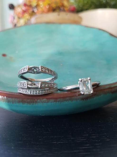 1.75ctw Emerald Cut COMPLETE Wedding set Vintage Inspired