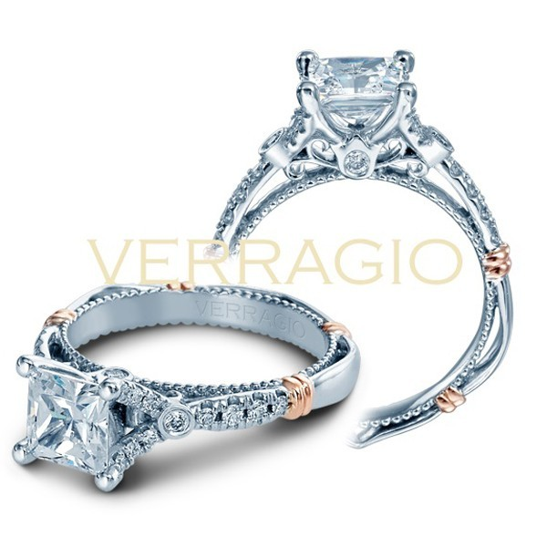 Verragio  Princess Diamond - Style# D-126P (All white gold)