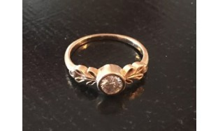Megan Thorne 18kt Rose Gold Diamond Engagement Ring .30