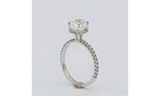 Engagement ring with center Cushion cut diamond
