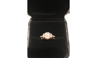 1.13 round G SI2 diamond with side marquise and baguette diamonds