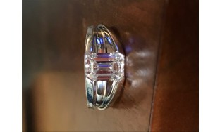 1.63 VS2 GIA Certified Emerald Cut Platinum Engagement Ring