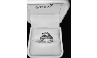 18K white gold ring with excellent GIA 1.32 carat VVS-1 H diamond