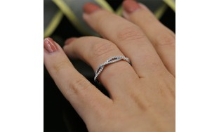 Diamond Eternity band with total 0.42ct of Round cut Diamonds