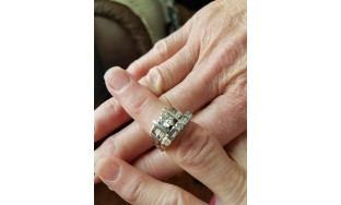 1.43 ct T.W. Diamond Platinum (stamped) Engagement Ring with 1ct  Band